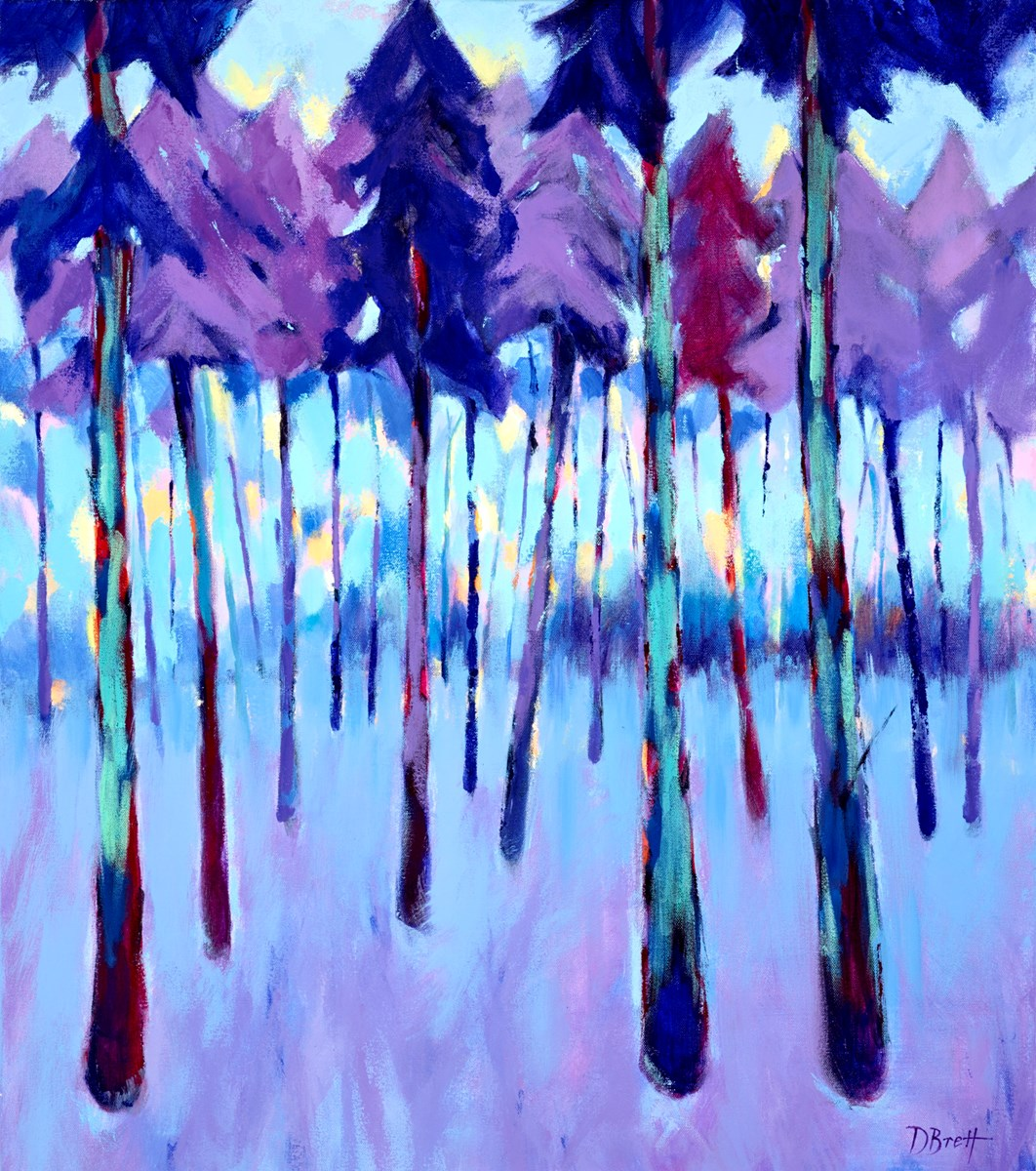 Purple Forest by david brett -  sized 28x32 inches. Available from Whitewall Galleries